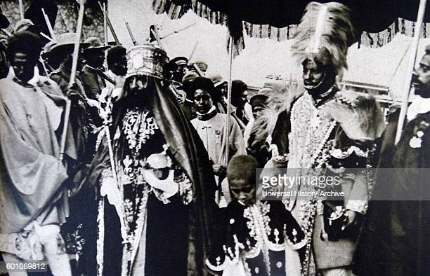 Photographic print of Haile Selassie Ethiopia's regent in crowning robes Dated 20th Century