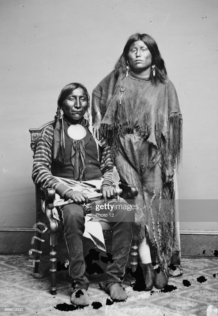 Kiowa Indians; Lone Wolf and his wife Elta. : News Photo