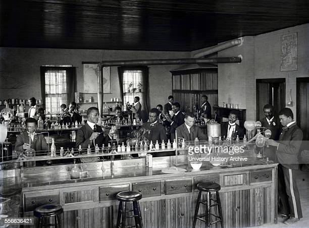 Photographic print of the Chemistry Laboratory at Tuskegee Institute California Photographed by Frances Benjamin Johnston Dated 1902