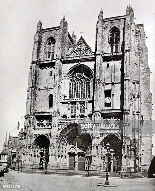 Photographic print of the exterior of Nantes Cathedral a Gothic Roman Catholic cathedral in the city of Nantes Pays de la Loire France Dated 19th...