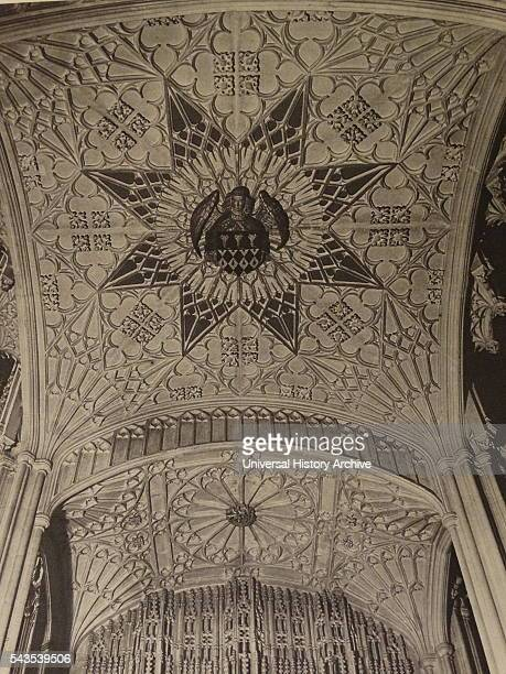 Photographic print of the stone canopy above the effigy of Bishop Wayneflete Dated 20th Century