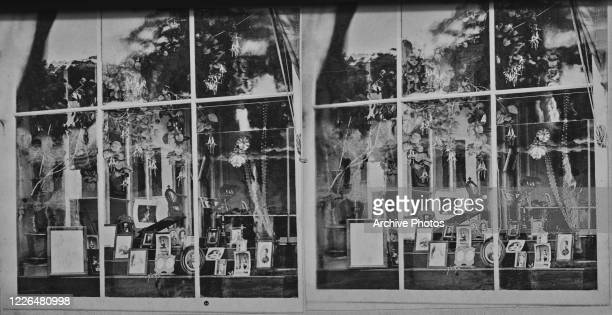 Photographic shop in Cooperstown, New York State, circa 1880. From the Bagoe Collection.