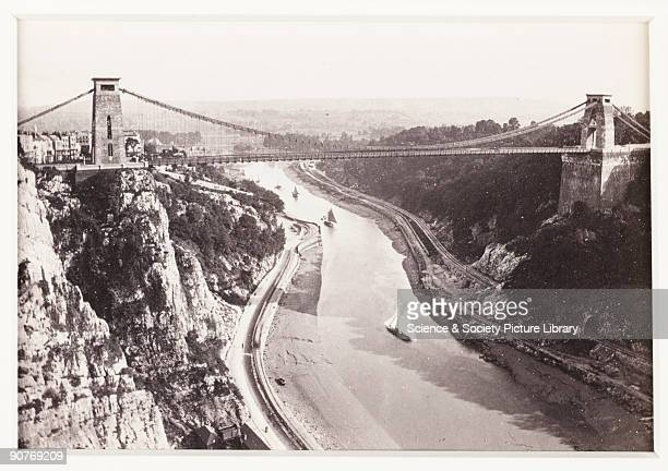 A photographic view of Clifton Suspension Bridge spanning the Avon Gorge published by Francis Bedford Co Designed by Isambard Kingdom Brunel the...