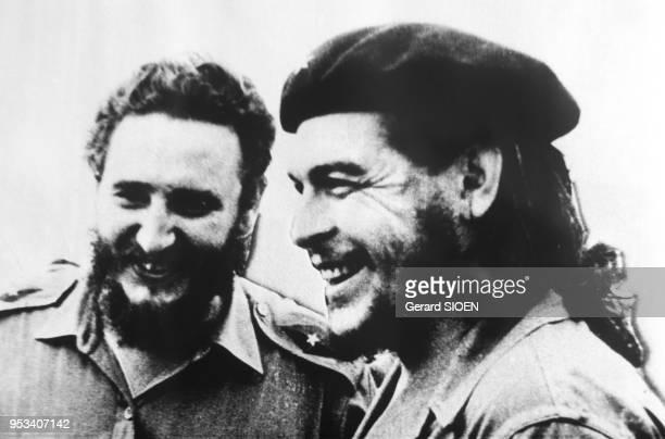 Photographie de Fidel Castro et Che Guevara dans le Musée de la Révolution à la Havane Cuba