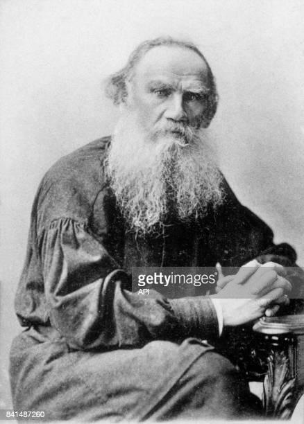 Photographie représentant l'écrivain russe Léon Tolstoï