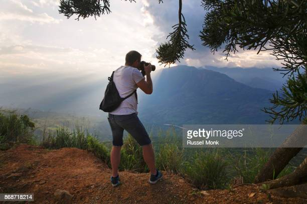 Photographing a beautiful scene