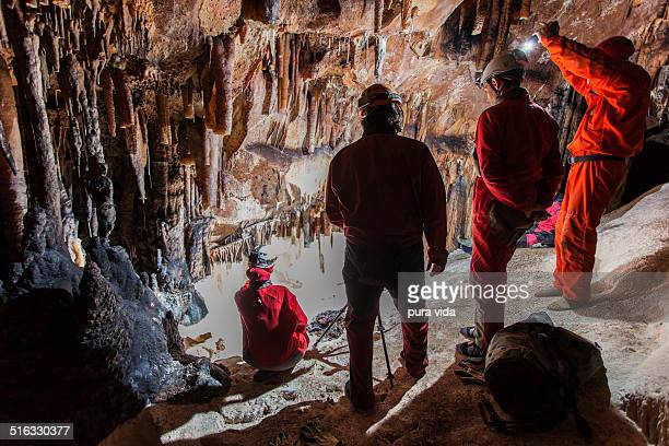 photographing caves - speleology stock pictures, royalty-free photos & images