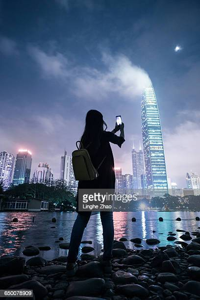 Photographing city night