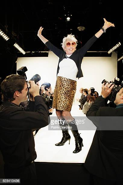 Photographing Model on Runway