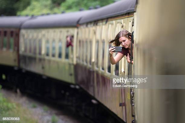 Photographing out of a train