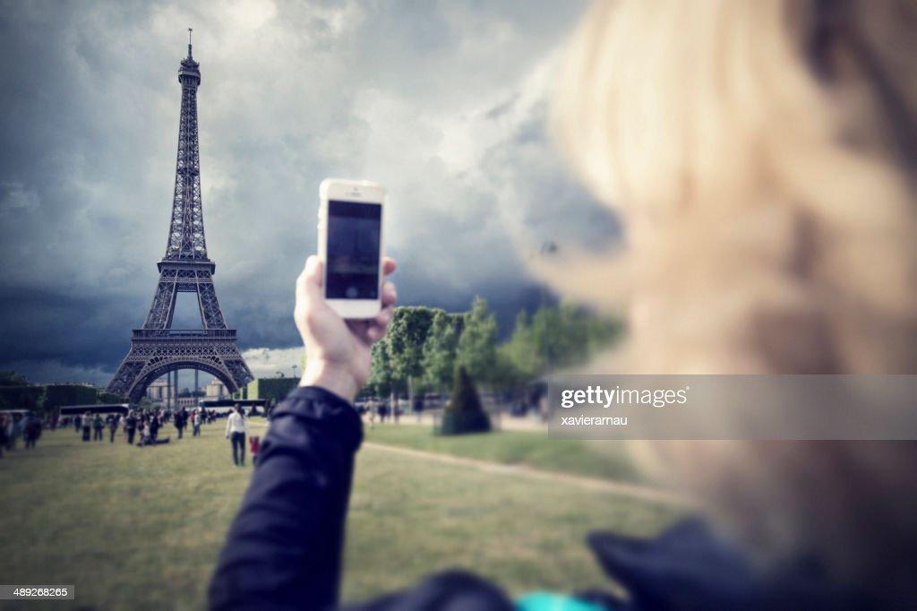 Photographing Paris : Stock Photo