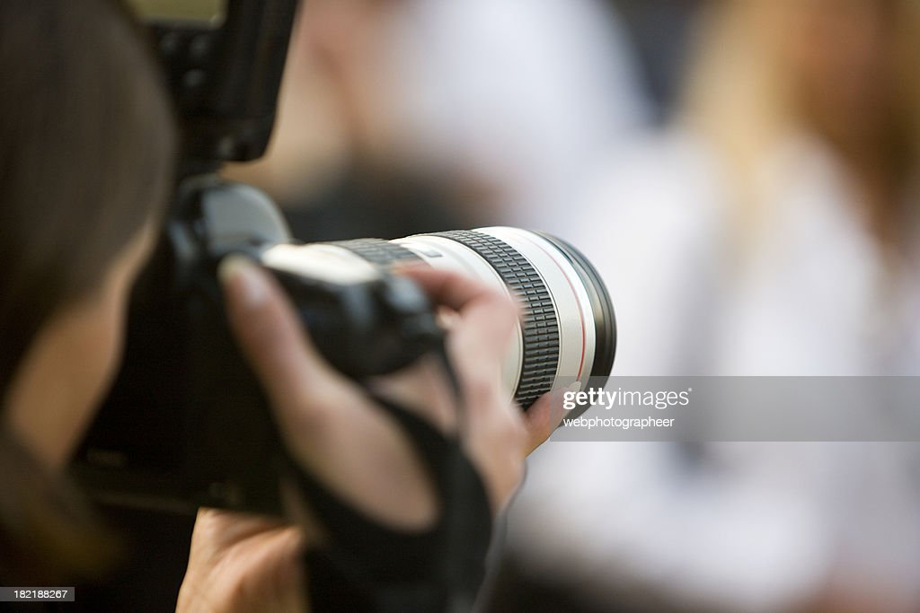 Photographing : Stock Photo