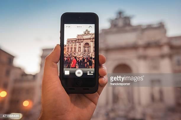 Fotografiar la fontana de Trevi de Roma