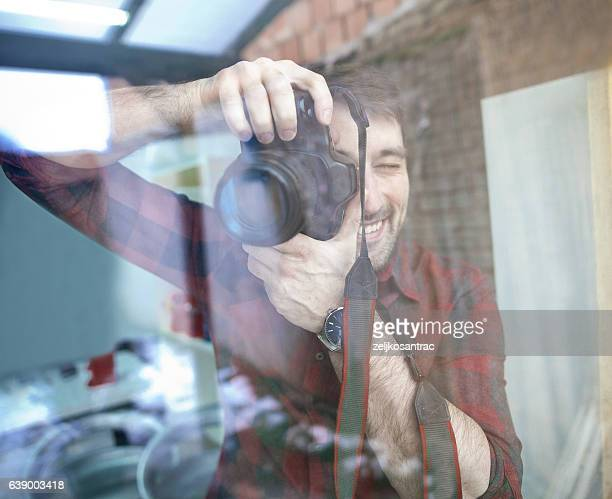 Photographing through glass