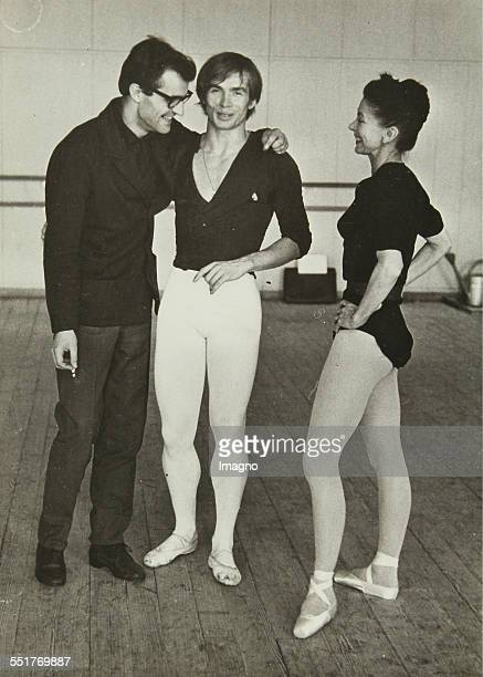 PhotographRudolf Nureyev and Margot Fonteyn with pianist in the rehearsal hall of the State Opera in Vienna About 1964 Eh titled and stamp 2 177 128...
