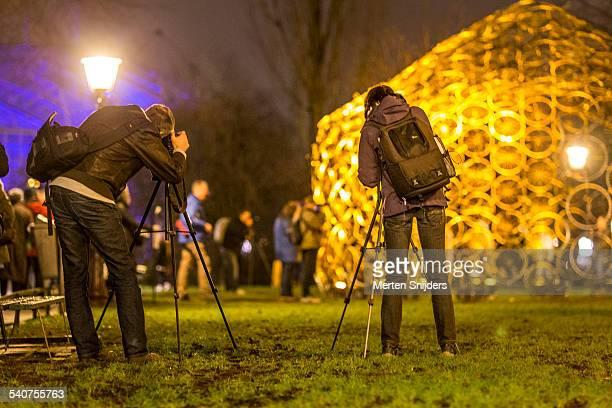 Photographs at light installation