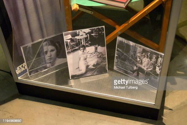 """Photographs of actress Carrie Fisher at the Carrie Fisher pop-up museum """"The Todd Fisher Collection"""" at TCL Chinese Theatre on December 19, 2019 in..."""
