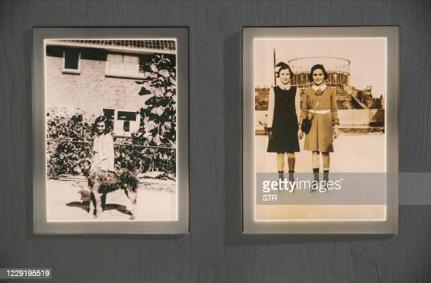 Photographs of Anne Frank are on display at the Jewish Museum in Frankfurt am Main, western Germany, on October 21, 2020. - The Jewish Museum...