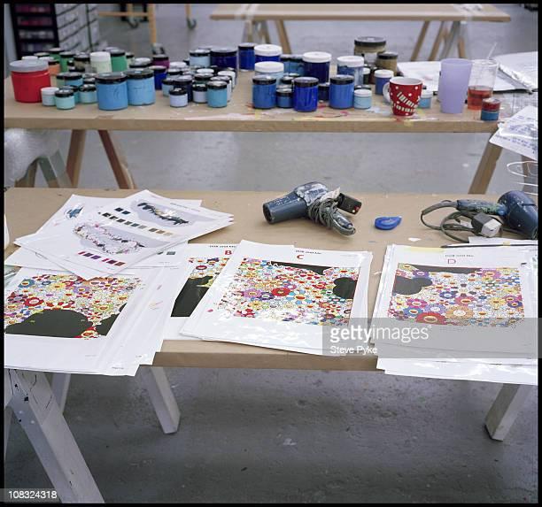 Photographs of Artist Takashi Murakami's studio taken on August 13 2009