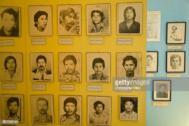 Photographs of dead heroes of the Sandinist revolution during the conflict of the late 70's and 80's in the Masaya region in a small museum dedicated...