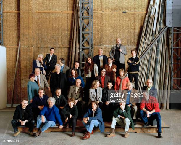 Photographs of French film directors and screenwriters were taken at the film studios of Boulogne on two different occations Present for the first...
