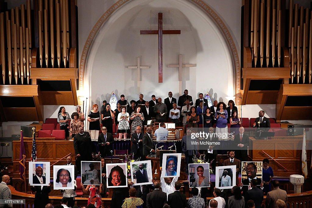 Vigil Held For Victims Of Charleston Church Shooting : News Photo