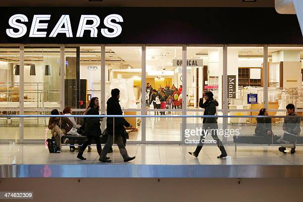 TORONTO ON FEBRUARY 23 Photographs showing the Sears store located at the Eaton Centre on it's last day of operations February 23 2014