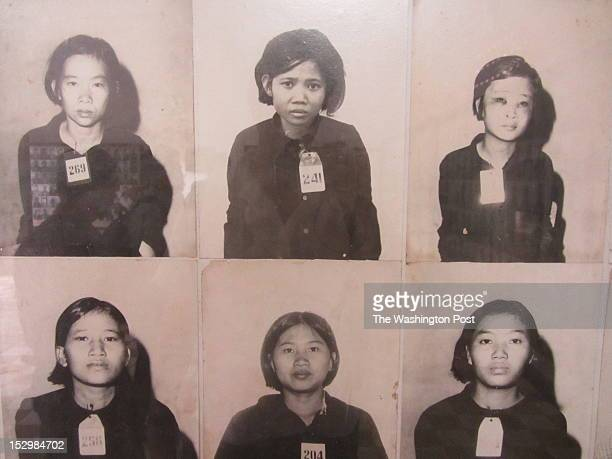 Photographs taken by the Khmer Rouge of some of the thousands of people held at Tuol Sleng a former school in Phnom Penh turned into a torture center...
