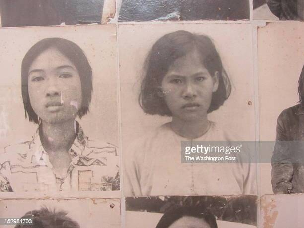 Photographs taken by the Khmer Rouge of young women held at Tuol Sleng a former school in Phnom Penh turned into a torture center and death chamber...