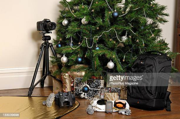Photography equipment and gifts under a Christmas tree Bath November 17 2010