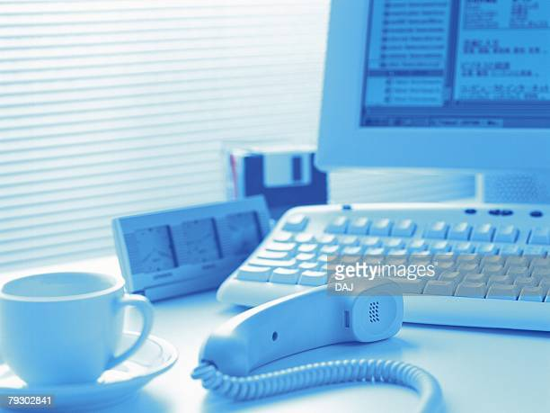 Photography of office items, Pin Focus, Toned Image