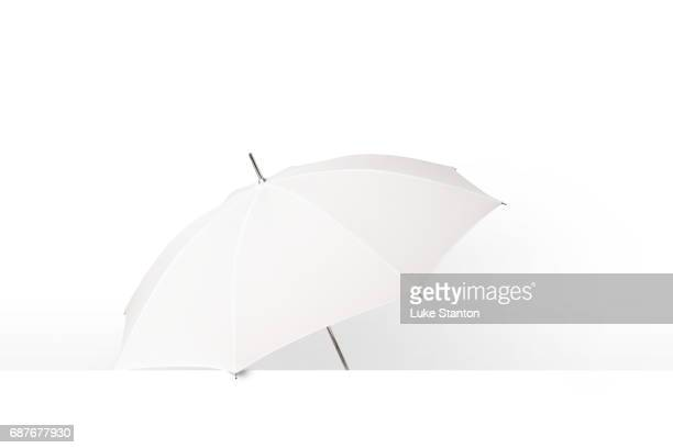 photography umbrella on white background - umbrella stock pictures, royalty-free photos & images