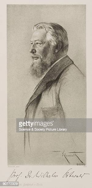 Photogravure after a drawing by Klamroth with facsimile signature of the sitter. Wilhelm Ostwald studied chemistry at Dorpat University in Eastern...