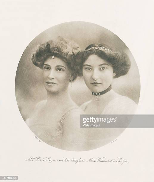 UNITED STATES DECEMBER 16 Photogravure after a photograph by Bassano Studio from 'England's Beautiful Women' Mrs Paris Singer nee Cecilia 'Lillie'...
