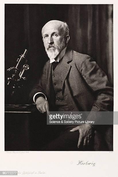 Photogravure after a photograph by Nicola Perscheid. Oscar Hertwig studied medicine at Jena, Germany, under Ernst Heinrich Haeckel and Carl Gegenbaur...