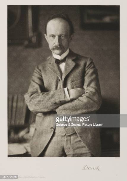Photogravure after a photograph by Rudolf Duhrkoop of Max Planck Born in Kiel Germany Planck studied at Munich and Berlin Universities later becoming...