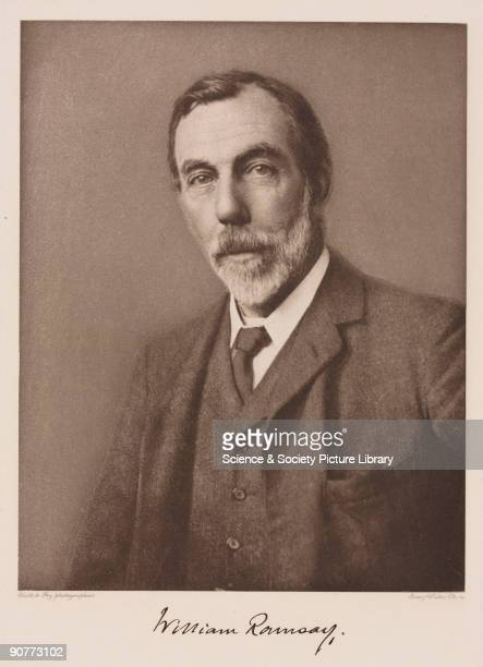 Photogravure by Emery Walker of Sir William Ramsay Ramsay was professor of Chemistry in Bristol and at University College London He is best known for...