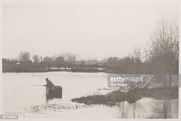 'UNITED KINGDOM NOVEMBER 29 Photogravure of a photograph by Peter Henry Emerson from 'The Compleat Angler' Volume 1 The book's author Izaak Walton...