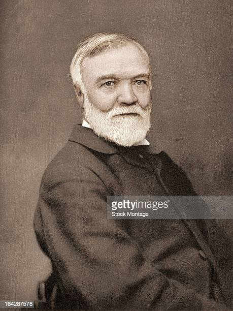 Photogravure portrait of Scottishborn American industrialist Andrew Carnegie 1905