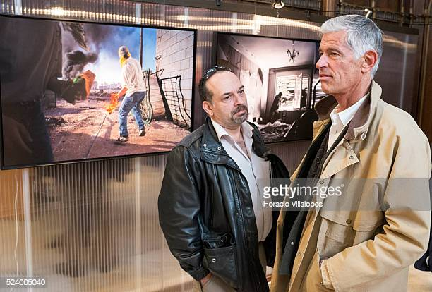 Photojournalist James Nachtwey , president of the jury of the 20th edition of the Prix Bayeux-Calvados for War Correspondents, at the opening of his...