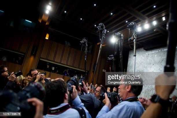 Photojournalists shoot photos of other photojournalists shooting photos before the Senate Judiciary Committee confirmation hearing of Brett Kavanaugh...