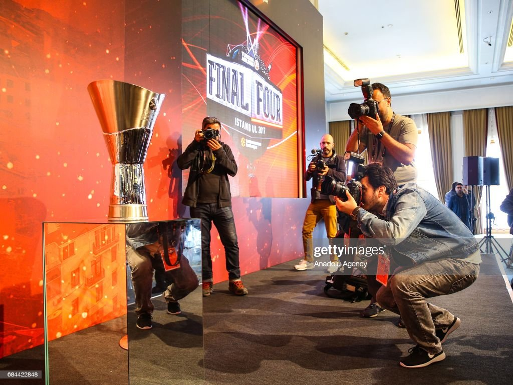 2017 Turkish Airlines EuroLeague Final Four Istanbul press conference  : News Photo