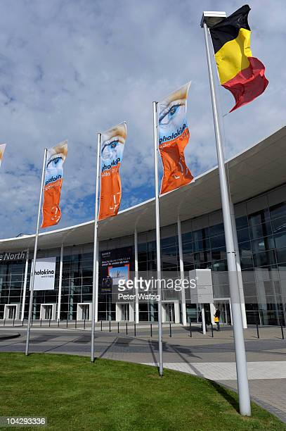 Photokina exhibition halls are pictured during the press preview of the Photokina 2010 trade fair on September 20 2010 in Cologne Germany The...