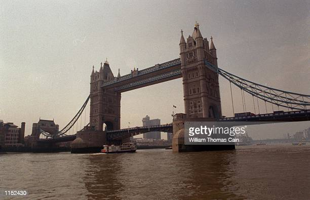 London Bridge is shown in a view from the Thames River May 14 1997 in London England