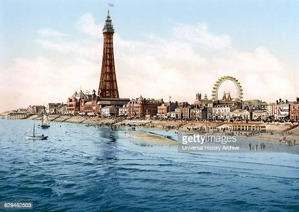 Photomechanical print of Blackpool Tower and Pleasure Beach Dated 1894