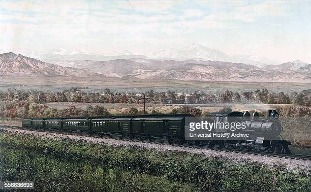 Photomechanical print of the Chicago Special Burlington Route a Class I railroad that operated in the Midwestern United States Commonly referred to...