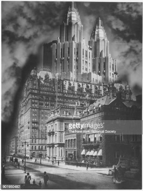 Photomontage of WaldorfAstoria and Fifth Avenue homes New York New York 1929