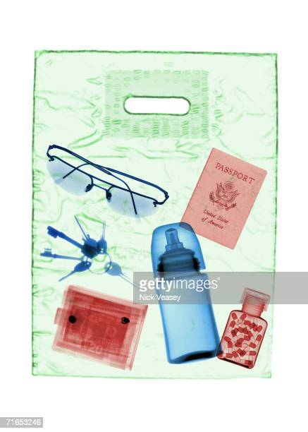 A photomontage of xrays shows the contents of a carrier bag on August 16 2006 which would have been acceptable as carryon luggage at the height of...