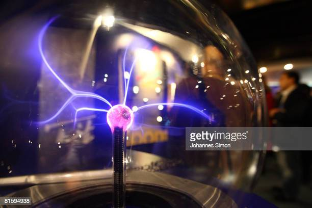 A photon source is seen in the CERN visitors' center on June 16 2008 in GenevaMeyrin Switzerland CERN is building the Large Hadron Collider the...