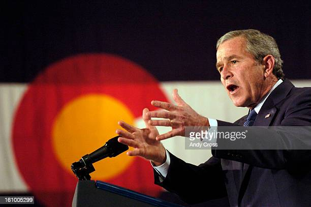 PHOTOPresident of the United States George W Bush during a Presidential luncheon event fundraiser for United States Congresswoman Marilyn Musgrave...